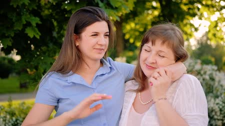 восемь : Family unity. Love care affection. Mother daughter enjoying time talking smiling embracing.