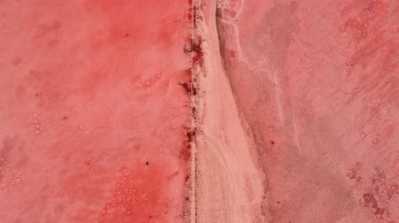 apocalyptic : Post apocalyptic landscape. Red desert. Dry soil textured surface. Stock Footage