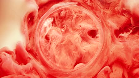 barvivo : Ink water swirl. Oracle crystal ball. Red paint blend. Flowing circle fog.