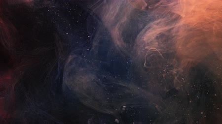 stardust : Smog flow. Universe galaxy. Dark fume spreading. Abstract haze. Stock Footage