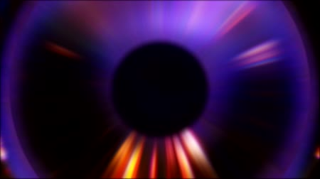 зодиак : Glowing sphere. Fortune telling. Neon purple eye effect with flowing beams. Стоковые видеозаписи