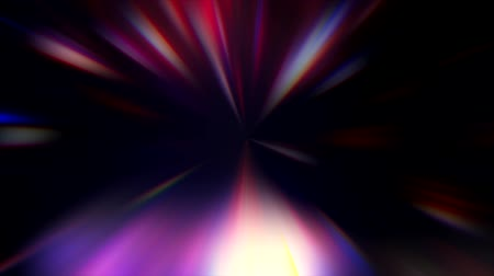 hyperspace : Blur rays motion. Stage lighting. Purple glare on black background.