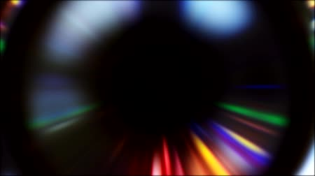 зодиак : Glowing circle. Providence eye. Blur neon multicolor rays motion on dark background for title.