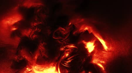 prázdno : Fire burst animation. Gas explosion. Red yellow flame cloud effect on dark background.