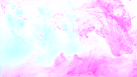 imaginární : Paint infusion overlay. Imaginary dreams. Turquoise magenta pink haze motion on white background.