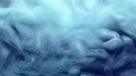 ethereal : Smoke background. Supernatural energy. Glitter blue steam motion effect for video editing.