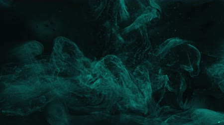 damp : Colored steam flow. Mystical illusion. Teal blue fume cloud motion effect for video editing. Stockvideo