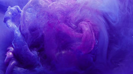 damp : Ink in water. Bewitchment power. Purple blue haze motion effect for transition.