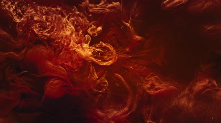 Blast flames background. Bomb explosion. Lash lava pantone orange smoke motion effect for intro. Stock Footage