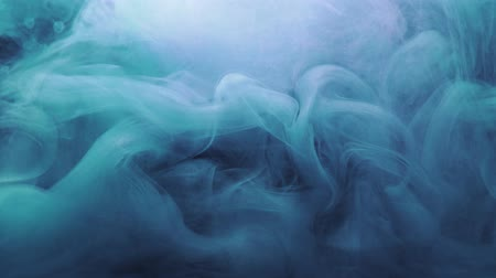 damp : Colored steam cloud. Magic spell. Blue glitter vapor motion effect for transition. Stockvideo
