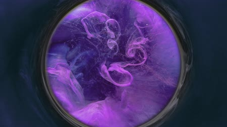 em camadas : Fume swirl overlay. Horoscope prediction. Purple haze circle motion on dark background.
