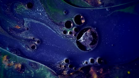 borowina : Paint flow. Toxic waste fluid. Bubbling navy blue purple glitter ink blend.