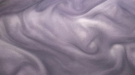 shimmer : Paint flow. Fantasy cloud. Lilac purple vertical shimmering ink motion.