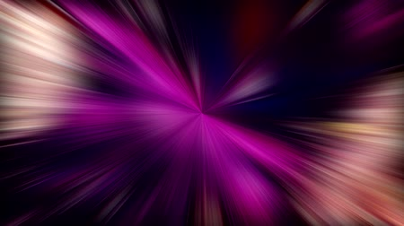 kaleidoskop : Glowing rays. Time travel. Purple beige laser beams motion.