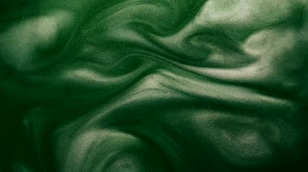 shimmer : Paint flow. Toxic poison. Shimmering vertical ink motion. Eden green color.