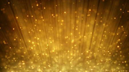 złoto : loopable motion background rising gold particles
