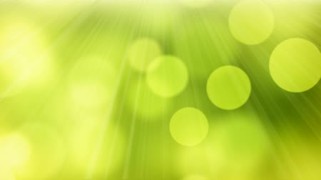 зеленый фон : loopable abstract background slowly flying green yellow circle bokeh lights