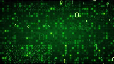 code : green loopable information technology background binary symbols zeros and ones Stock Footage