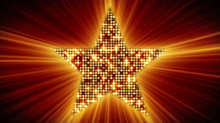 shiny : shining star shape of orange particles. loopable since 5.00 Stock Footage