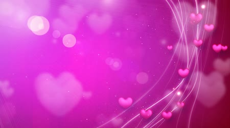 pink : lines and hearts pink romantic loop background