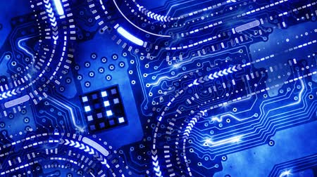bordo : blue technology circuit board background loop Stock Footage