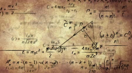 matemática : math physics formulas on old paper loopable