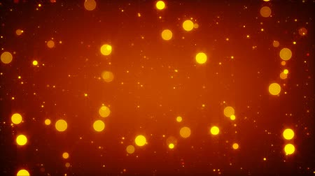 orange : orange bokeh lights and fairy dust loop background Stock Footage