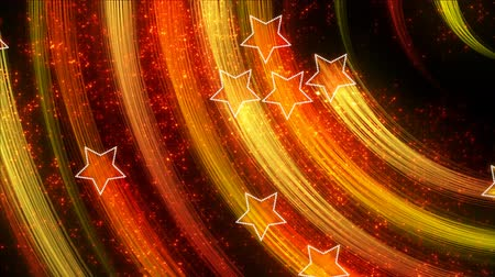 estrela : disco stars abstract loopable background yellow orange