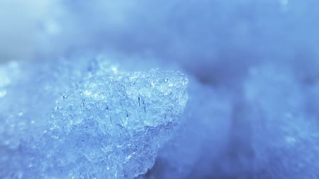 zmrazit : thawing blue ice close-up timelapse