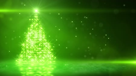 xmas tree : christmas tree glowing green particles. last 10 seconds are loopable