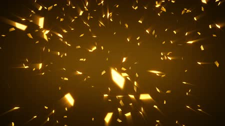 brilhar : gold shiny confetti background loop