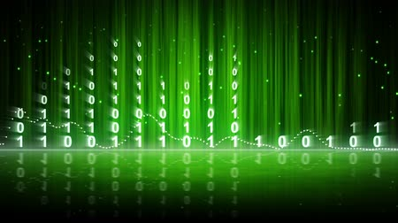 ciberespaço : green digital data equalizer background loop