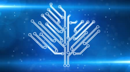 elektronický : blue circuit board electronic hi-tech growing tree