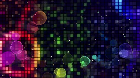 сверкающий : colorful sparkling disco wall and bokeh lights loopable Стоковые видеозаписи