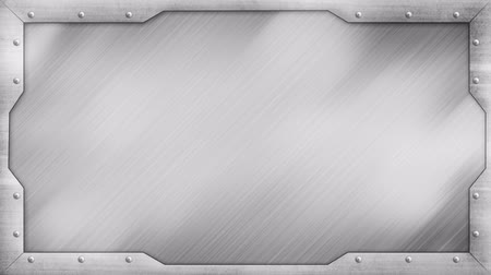 título : metal title plate loopable background
