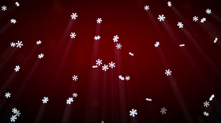 queda de neve : seamless loop snowfall on red with luma matte Vídeos