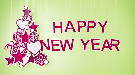 tebrik kartı : happy new year greeting. Part 2.15-12.15 is loopable Stok Video