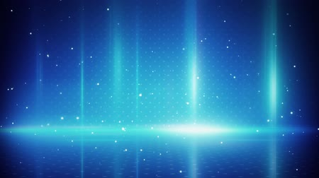 техно : blue light stripes and particles. computer generated seamless loop abstract motion background