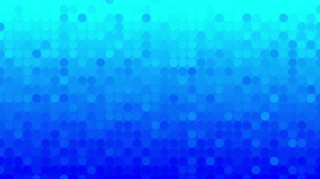 пиксель : blue circles mosaic. computer generated seamless loop abstract motion background