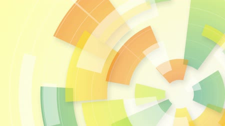geometric : colorful circular segments. computer generated seamless loop abstract motion background Stock Footage