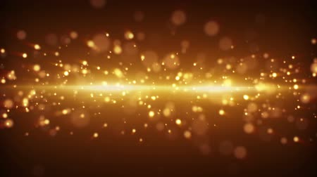 gold light stripe and particles. computer generated seamless loop abstract motion background