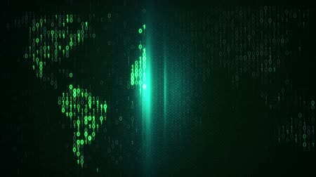 сканирование : scan green digital world. Computer generated seamless loop abstract motion background