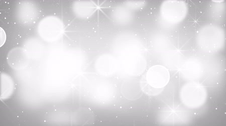 боке : white bokeh lights particles and stars. Computer generated seamless loop abstract motion background