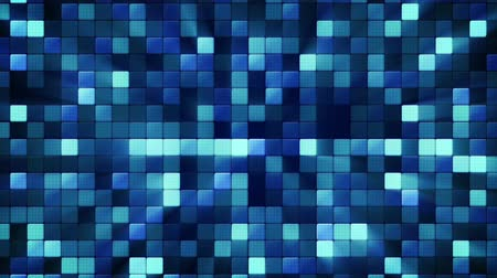 çini : blue shiny mosaic tiles. computer generated seamless loop abstract motion background