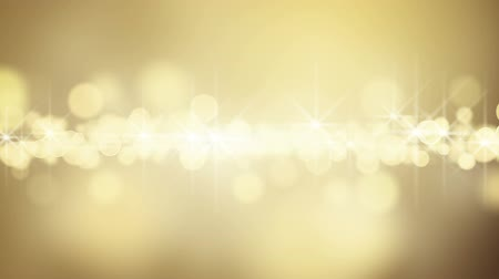 gold circle bokeh lights. computer generated seamless loop abstract motion background