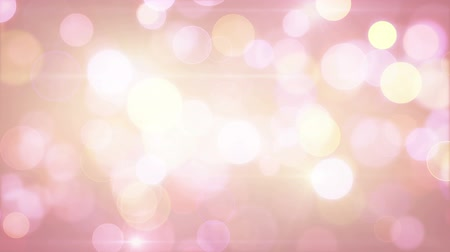 pink : lightcoloured pink yellow circle bokeh lights. computer generated loopable abstract motion background Stock Footage