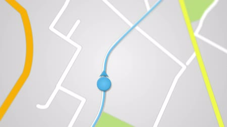city map GPS navigation. seamless loop animation