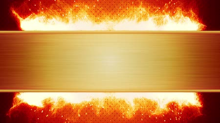 blank : blank plate and flaming fire. computer generated seamless loop abstract motion background Stock Footage