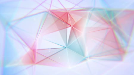 aberration : aberrated triangles. computer generated seamless loop abstract geometrical motion background