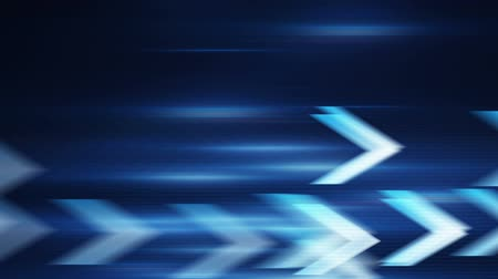 hızlanma : blue arrows fast motion. computer generated seamless loop abstract motion background Stok Video